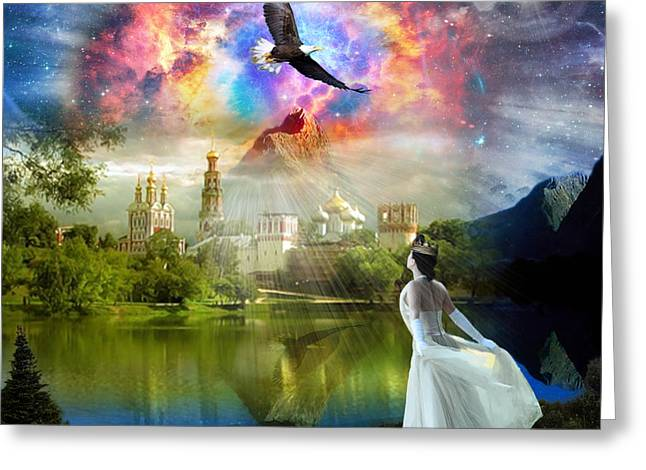 Kingdom Of Heaven Greeting Cards - Infinite Love Greeting Card by Dolores Develde