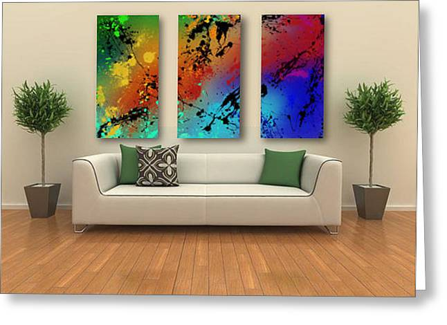 Top Seller Greeting Cards - Infinite M Triptych sample Greeting Card by Ryan Burton
