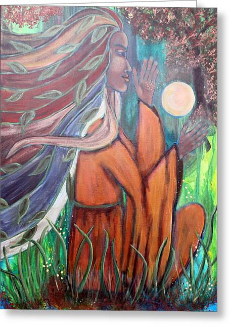 Courage Paintings Greeting Cards - Infinite Possibilities Greeting Card by Wendy Hassel