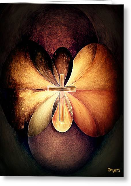 Eternal Life Mixed Media Greeting Cards - Infinite Serenity Greeting Card by Paula Ayers