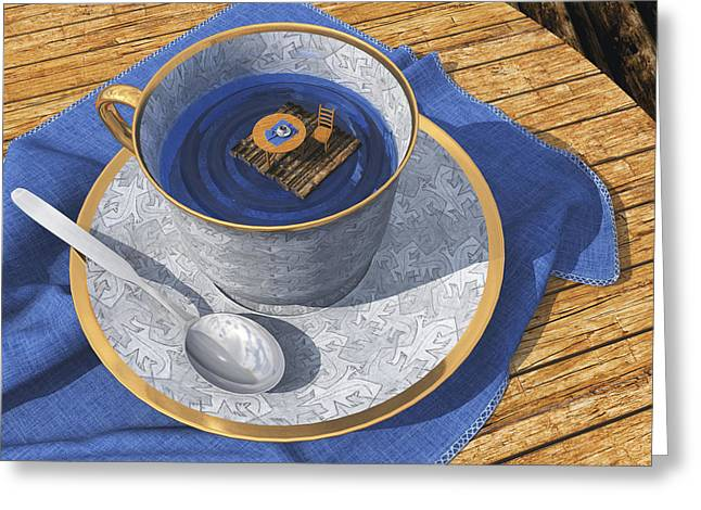 Teacup Greeting Cards - Infinitea Greeting Card by Cynthia Decker