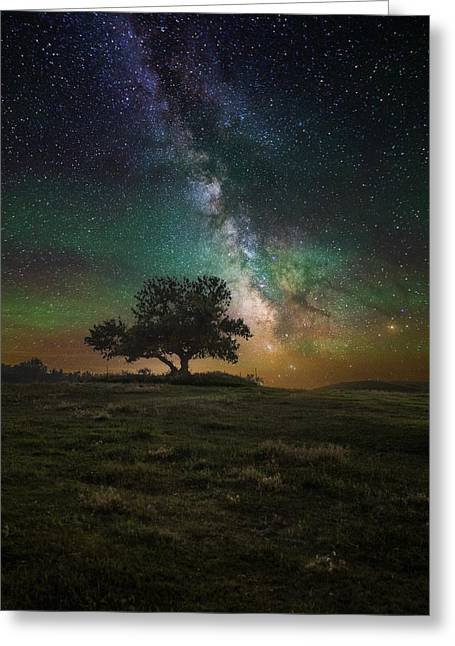 Astrophoto Greeting Cards - Infinity Greeting Card by Aaron J Groen