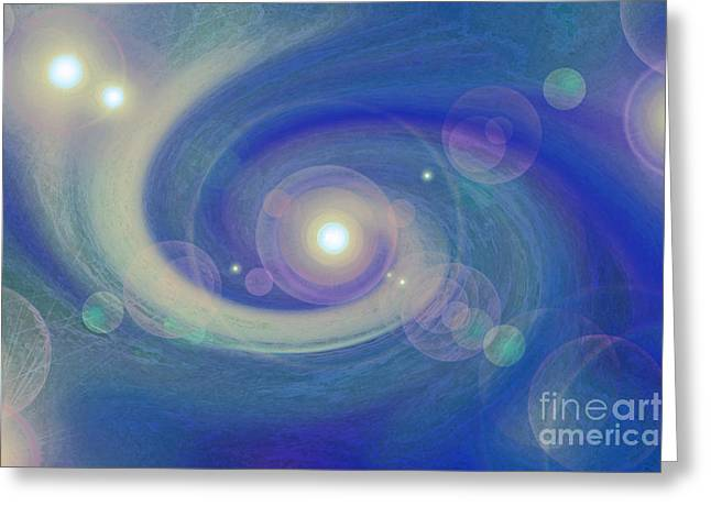 First Star Art Mixed Media Greeting Cards - Infinity blue Greeting Card by First Star Art