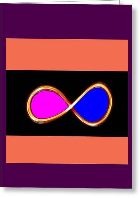 Reprint Greeting Cards - INFINITY Infinite SYMBOL Elegant Art and Patterns Greeting Card by Navin Joshi