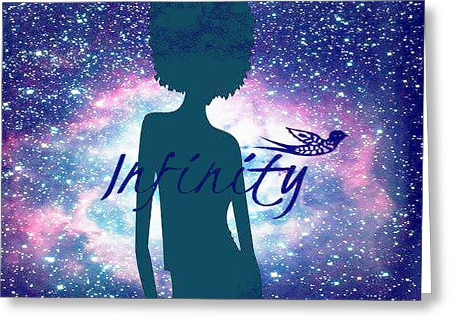 Infinity Greeting Card by Respect the Queen