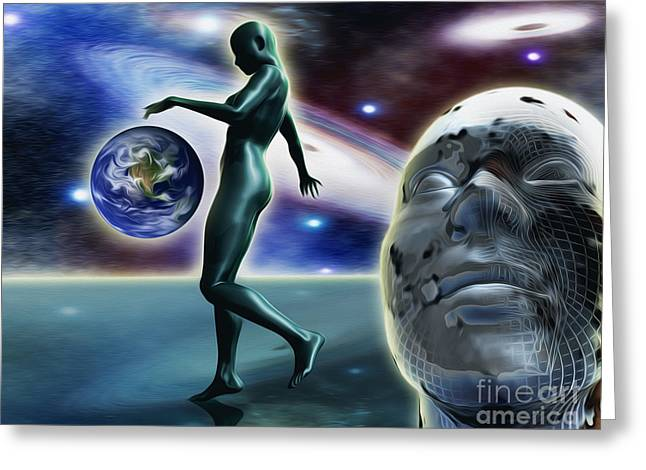 Abduction Digital Art Greeting Cards - Infinity Vision Greeting Card by Stefano Senise