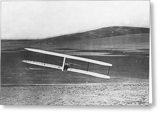 Inflight Turn With Wright Glider Greeting Card by Photo Researchers