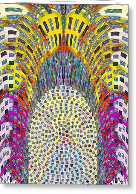 Marathon Champion Greeting Cards - Influence of ATTRIUM at Bay Toronto Modern Architecture DIGITAL Fine Art  Background Designs  and Co Greeting Card by Navin Joshi