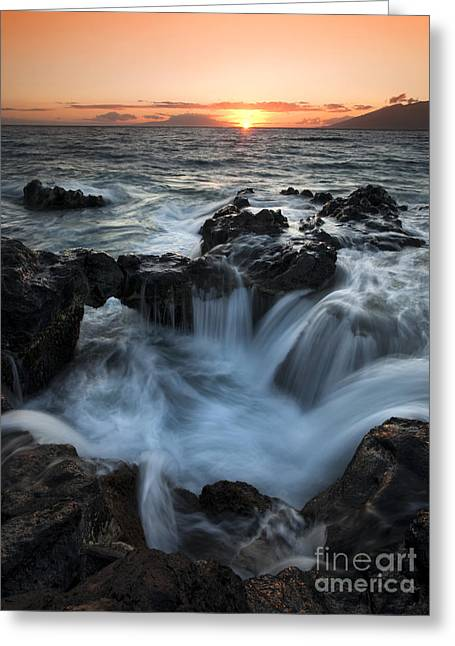 Maui Greeting Cards - Influx Greeting Card by Mike  Dawson