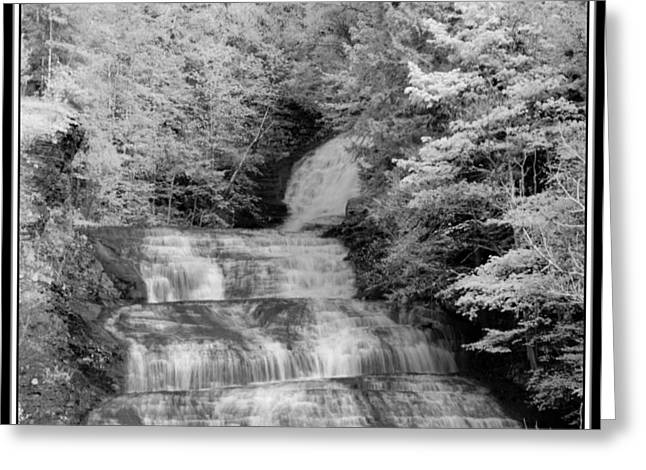 Buttermilk Falls State Park Greeting Cards - Infrared Buttermilk Falls 2 Greeting Card by David Blatchley
