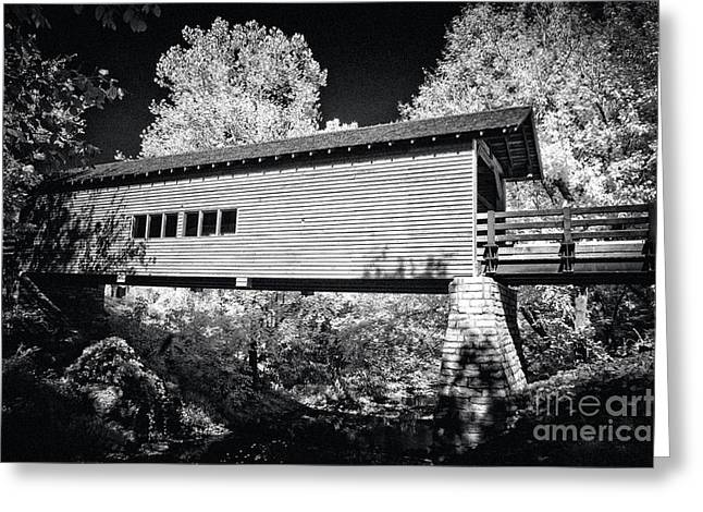 Tennesee Greeting Cards - Infrared Covered Bridge Greeting Card by Paul W Faust -  Impressions of Light
