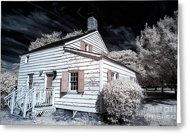 Old School House Greeting Cards - Infrared House at Olde Towne Greeting Card by John Rizzuto