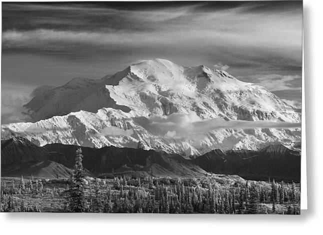 Northside Greeting Cards - Infrared Image Of Mt. Mckinleys North Greeting Card by John Delapp