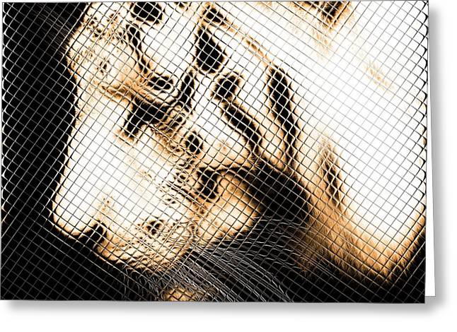 Gaze Mixed Media Greeting Cards - Infrared Orange Tiger Greeting Card by Tommy toppart Hammarsten