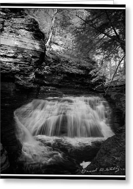 Buttermilk Falls Greeting Cards - Infrared Upper Buttermilk Falls 17 Greeting Card by David Blatchley