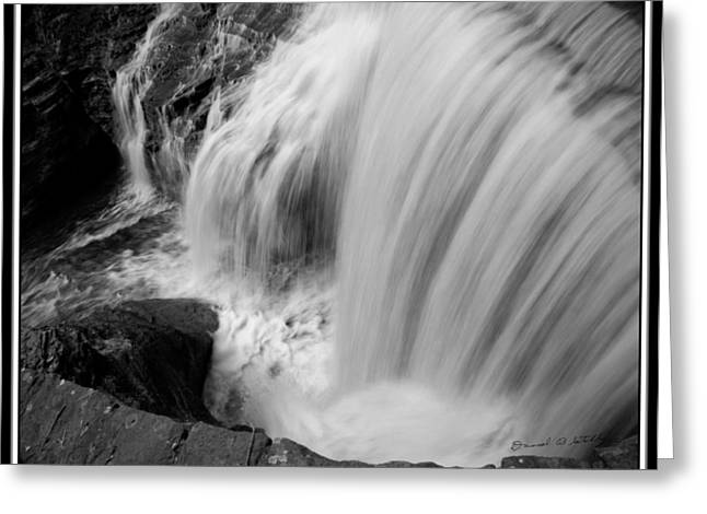 Buttermilk Falls State Park Greeting Cards - Infrared Upper Buttermilk Falls Greeting Card by David Blatchley