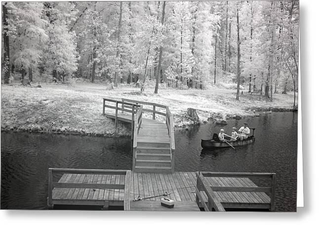 Fishing Creek Greeting Cards - Infrared View of fishing in Monroe County Alabama Greeting Card by Carol M Highsmith