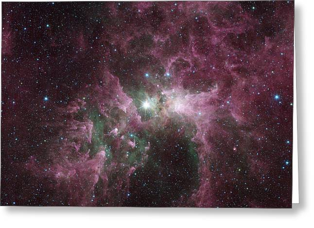 Infrared View Of The Carina Nebula Greeting Card by Stocktrek Images