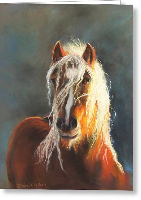 Western Western Art Pastels Greeting Cards - Ingalyl Greeting Card by Karen Kennedy Chatham