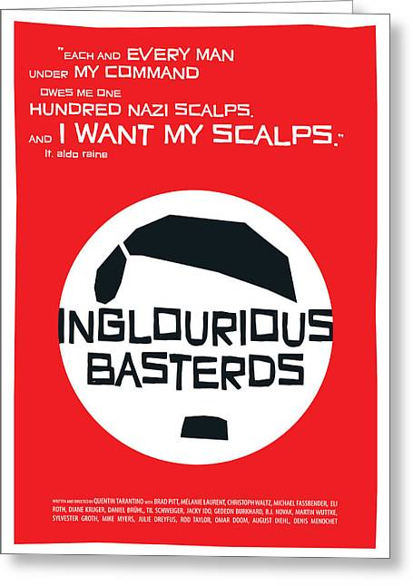 Basterds Greeting Cards - Inglourious Basterds Greeting Card by Geraldinez