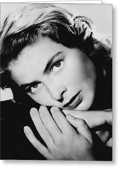"""red Carpet"" Greeting Cards - Ingrid Bergman Greeting Card by Nomad Art And  Design"