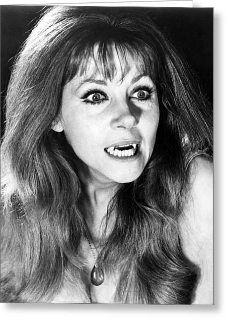 Ingrid Pitt In The Vampire Lovers  Greeting Card by Silver Screen