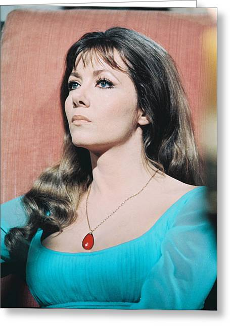 Ingrid Pitt Greeting Card by Silver Screen