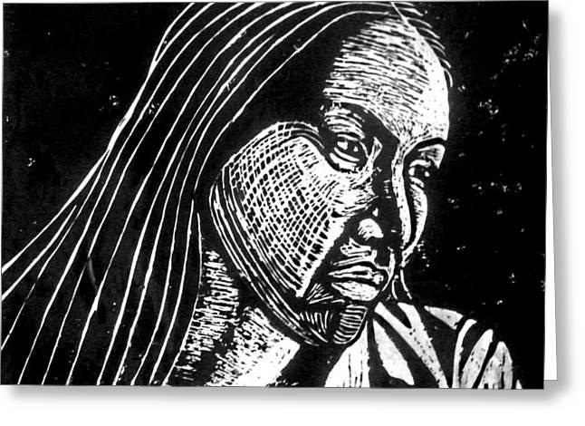 Ingrid Washinawatok Greeting Card by Jane Madrigal
