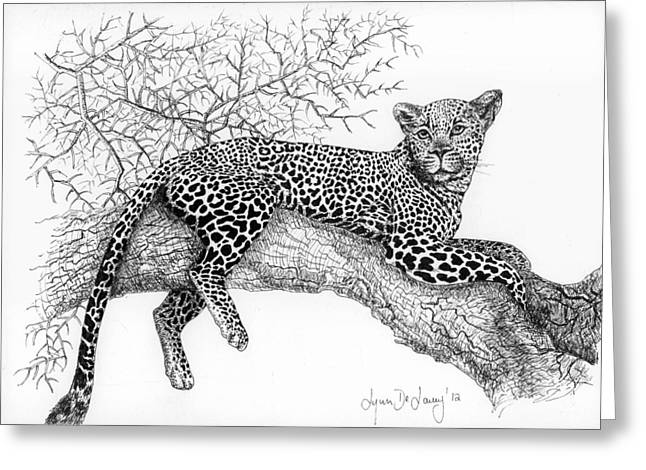 Pen And Paper Greeting Cards - Ingwe Greeting Card by Lynn  De Lacey