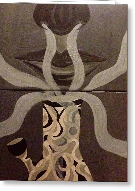 Haze Paintings Greeting Cards - Inhale Greeting Card by Kolene Parliman