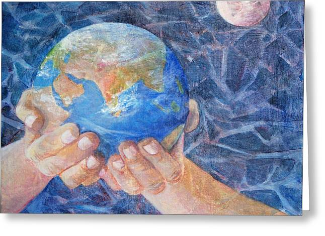 System Paintings Greeting Cards - Inherit the Earth Greeting Card by Arlissa Vaughn