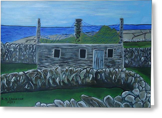 Inis Meain 17 Old House Greeting Card by Roland LaVallee