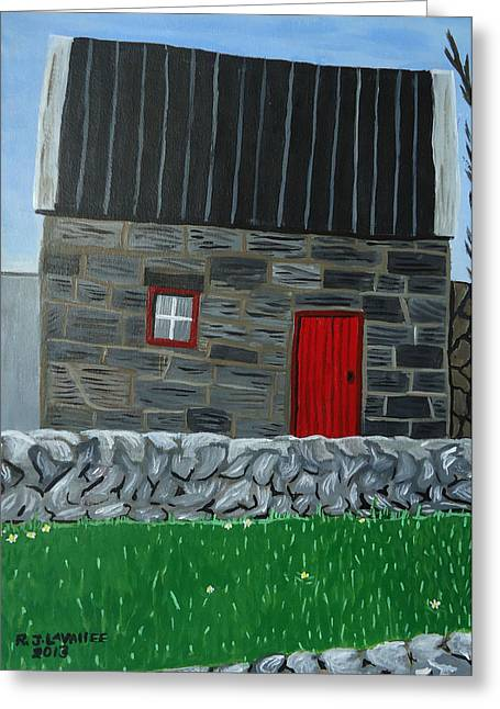 Inis Mor Greeting Cards - Inis Meain 27 Greeting Card by Roland LaVallee