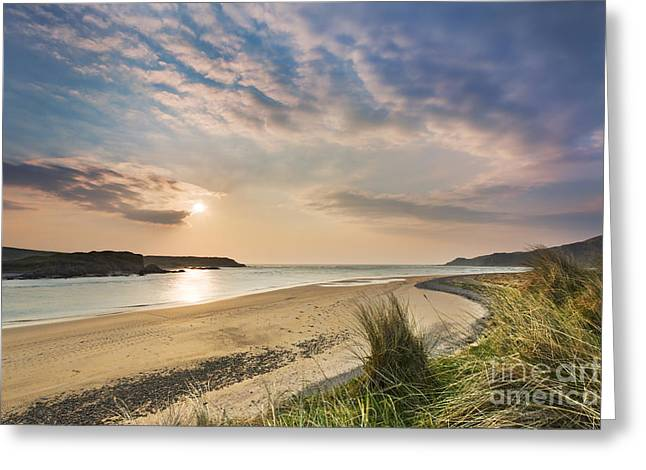 Golden Sand Greeting Cards - Inishowen - Donegal - Ireland Greeting Card by Rod McLean