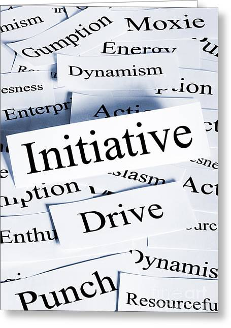 Initiative Greeting Cards - Initiative Concept Vertical Greeting Card by Colin and Linda McKie