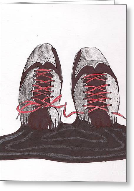Nike Greeting Cards - Inked Aj2012 Greeting Card by Dallas Roquemore