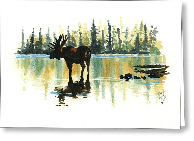 Cabin Greeting Cards - Inktober 7 Loner Greeting Card by Ken Meyer jr