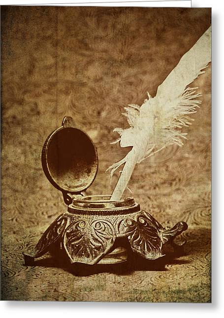 Pen Photographs Greeting Cards - Inkwell II Greeting Card by Tom Mc Nemar