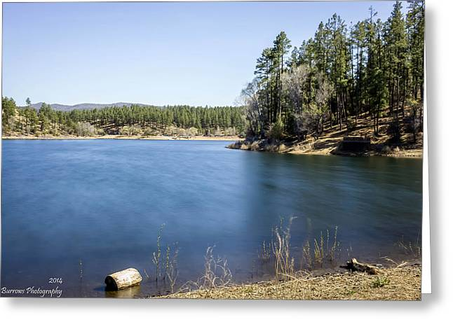 Prescott Greeting Cards - Inlet at the Lake Greeting Card by Aaron Burrows