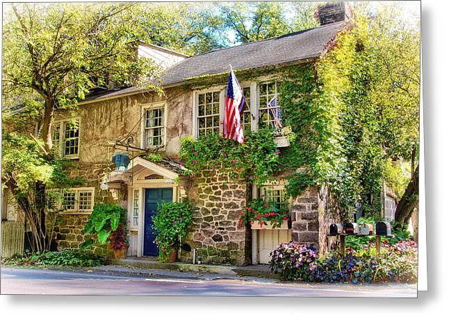 18th Century Greeting Cards - Inn at Phillips Mill Greeting Card by Carolyn Derstine