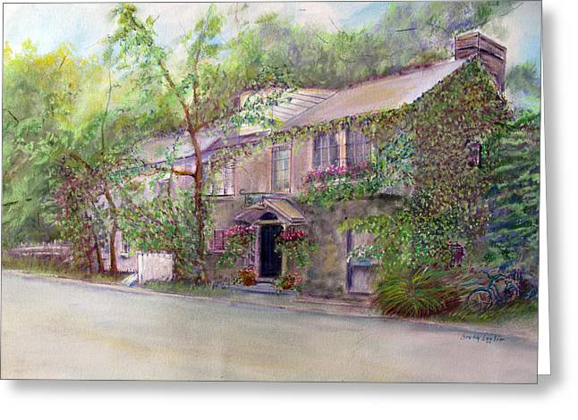 Mills Pastels Greeting Cards - Inn At Phillips Mill Greeting Card by Loretta Luglio