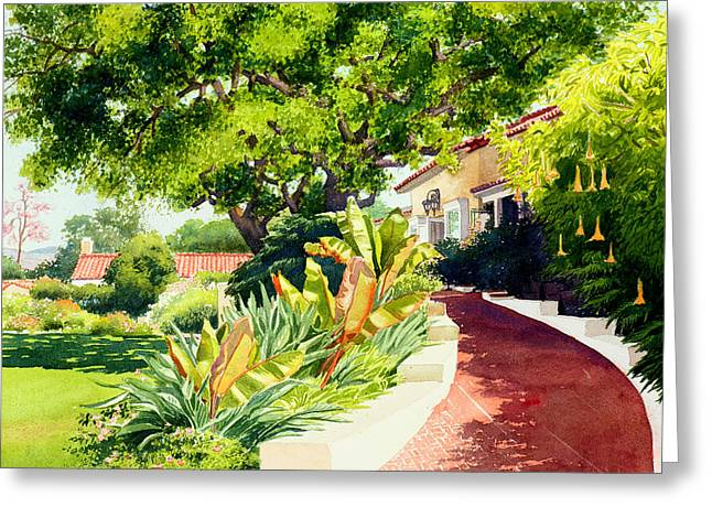 Tropical Plants Greeting Cards - Inn at Rancho Santa Fe Greeting Card by Mary Helmreich