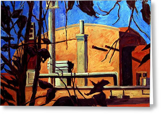 Nast Paintings Greeting Cards - Inn of the Anasazi Santa Fe NM Greeting Card by Charlie Spear