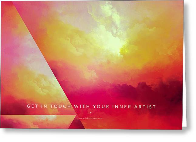Clouds. Emotional Greeting Cards - Inner Artist Motivational Art Greeting Card by LC Bailey