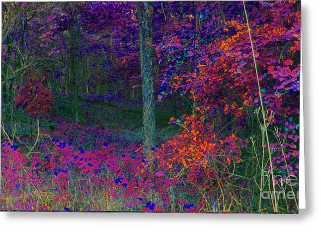 Autum Abstract Greeting Cards - Inner Autum Greeting Card by Cheryl Raber