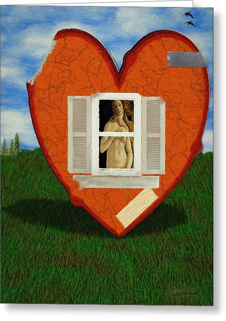 Venus Greeting Cards - Inner Beauty Greeting Card by Jeff Kolker