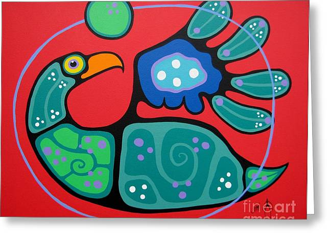 Shaman Art Greeting Cards - Inner Beauty Greeting Card by Jim Oskineegish