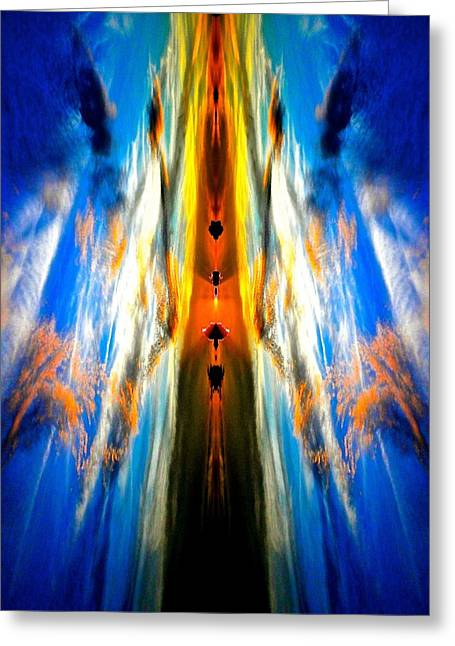 Angelical Greeting Cards - Inner Chakras Sunset Greeting Card by Joe Wyman