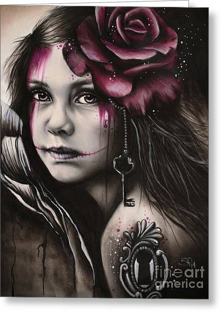 Macabre Greeting Cards - Inner Child Greeting Card by Sheena Pike