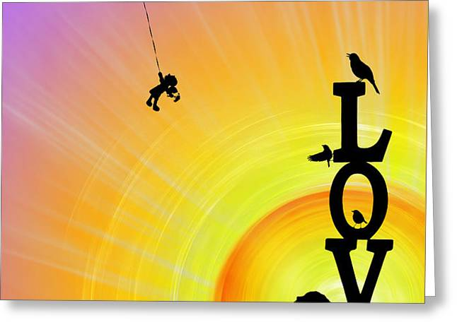 Inner Child Greeting Card by Tim Gainey